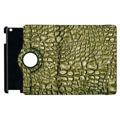 Aligator Skin Apple Ipad 3/4 Flip 360 Case by BangZart