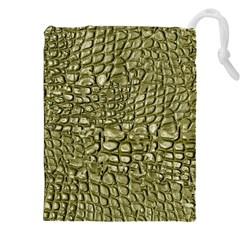 Aligator Skin Drawstring Pouches (xxl) by BangZart