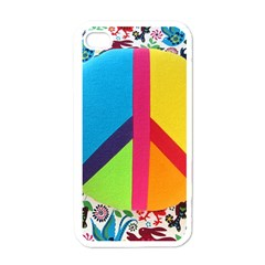 Peace Sign Animals Pattern Apple Iphone 4 Case (white) by BangZart