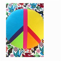 Peace Sign Animals Pattern Large Garden Flag (two Sides) by BangZart