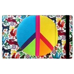 Peace Sign Animals Pattern Apple Ipad 3/4 Flip Case by BangZart