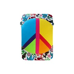 Peace Sign Animals Pattern Apple Ipad Mini Protective Soft Cases by BangZart