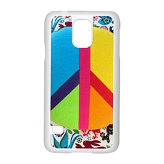 Peace Sign Animals Pattern Samsung Galaxy S5 Case (white) by BangZart