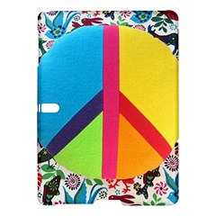 Peace Sign Animals Pattern Samsung Galaxy Tab S (10 5 ) Hardshell Case  by BangZart