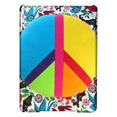 Peace Sign Animals Pattern Ipad Air Hardshell Cases by BangZart