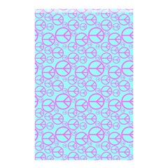Peace Sign Backgrounds Shower Curtain 48  x 72  (Small)  by BangZart