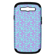 Peace Sign Backgrounds Samsung Galaxy S Iii Hardshell Case (pc+silicone) by BangZart