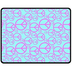 Peace Sign Backgrounds Double Sided Fleece Blanket (medium)  by BangZart