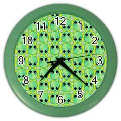 Alien Pattern Color Wall Clocks by BangZart