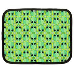 Alien Pattern Netbook Case (large) by BangZart