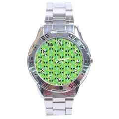 Alien Pattern Stainless Steel Analogue Watch by BangZart