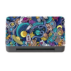 Cartoon Hand Drawn Doodles On The Subject Of Space Style Theme Seamless Pattern Vector Background Memory Card Reader With Cf by BangZart