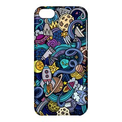 Cartoon Hand Drawn Doodles On The Subject Of Space Style Theme Seamless Pattern Vector Background Apple Iphone 5c Hardshell Case by BangZart