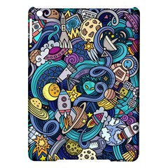 Cartoon Hand Drawn Doodles On The Subject Of Space Style Theme Seamless Pattern Vector Background Ipad Air Hardshell Cases by BangZart