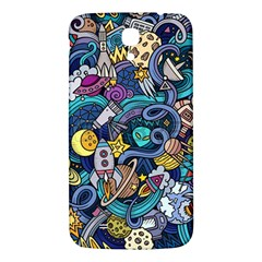 Cartoon Hand Drawn Doodles On The Subject Of Space Style Theme Seamless Pattern Vector Background Samsung Galaxy Mega I9200 Hardshell Back Case by BangZart