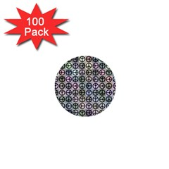 Peace Pattern 1  Mini Buttons (100 Pack)  by BangZart