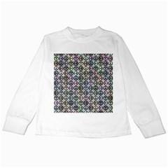 Peace Pattern Kids Long Sleeve T Shirts