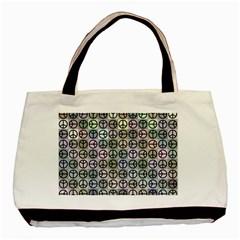 Peace Pattern Basic Tote Bag (two Sides) by BangZart