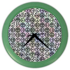 Peace Pattern Color Wall Clocks by BangZart