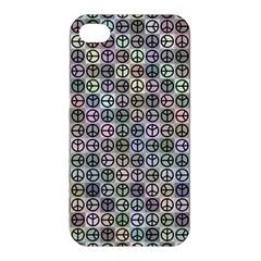 Peace Pattern Apple Iphone 4/4s Premium Hardshell Case by BangZart