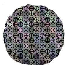 Peace Pattern Large 18  Premium Round Cushions by BangZart