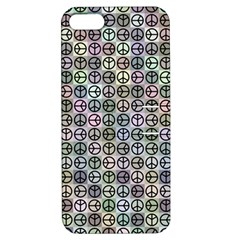Peace Pattern Apple Iphone 5 Hardshell Case With Stand by BangZart