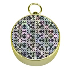 Peace Pattern Gold Compasses by BangZart