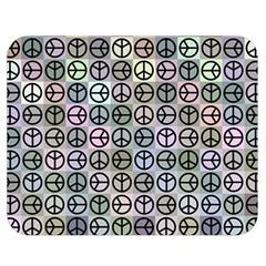Peace Pattern Double Sided Flano Blanket (medium)  by BangZart