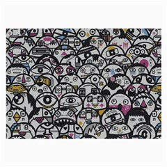 Alien Crowd Pattern Large Glasses Cloth (2 Side) by BangZart