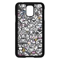 Alien Crowd Pattern Samsung Galaxy S5 Case (black) by BangZart