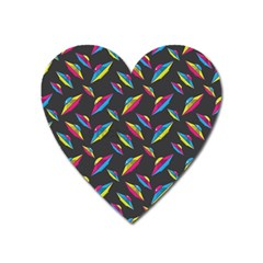 Alien Patterns Vector Graphic Heart Magnet by BangZart