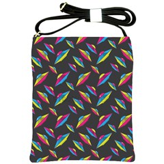 Alien Patterns Vector Graphic Shoulder Sling Bags by BangZart
