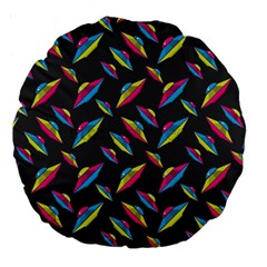 Alien Patterns Vector Graphic Large 18  Premium Round Cushions by BangZart
