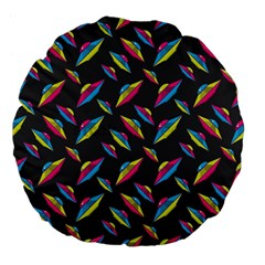 Alien Patterns Vector Graphic Large 18  Premium Flano Round Cushions by BangZart