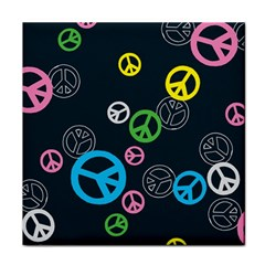 Peace & Love Pattern Tile Coasters by BangZart