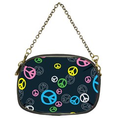 Peace & Love Pattern Chain Purses (one Side)  by BangZart