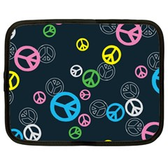 Peace & Love Pattern Netbook Case (xxl)  by BangZart
