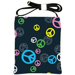 Peace & Love Pattern Shoulder Sling Bags by BangZart