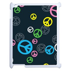 Peace & Love Pattern Apple Ipad 2 Case (white) by BangZart