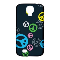 Peace & Love Pattern Samsung Galaxy S4 Classic Hardshell Case (pc+silicone) by BangZart
