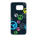 Peace & Love Pattern Samsung Galaxy S7 White Seamless Case