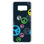 Peace & Love Pattern Samsung Galaxy S8 White Seamless Case