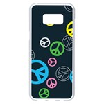 Peace & Love Pattern Samsung Galaxy S8 Plus White Seamless Case