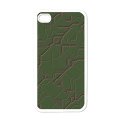 Alien Wires Texture Apple Iphone 4 Case (white) by BangZart