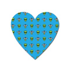 Alien Pattern Heart Magnet by BangZart