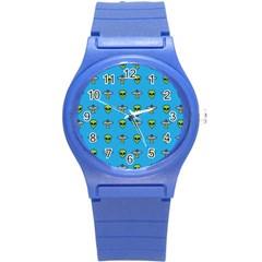 Alien Pattern Round Plastic Sport Watch (s) by BangZart