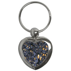 Monster Cover Pattern Key Chains (heart)  by BangZart
