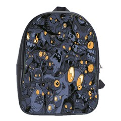 Monster Cover Pattern School Bags (xl)  by BangZart