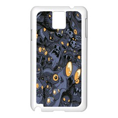 Monster Cover Pattern Samsung Galaxy Note 3 N9005 Case (white) by BangZart