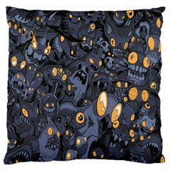 Monster Cover Pattern Large Flano Cushion Case (two Sides) by BangZart